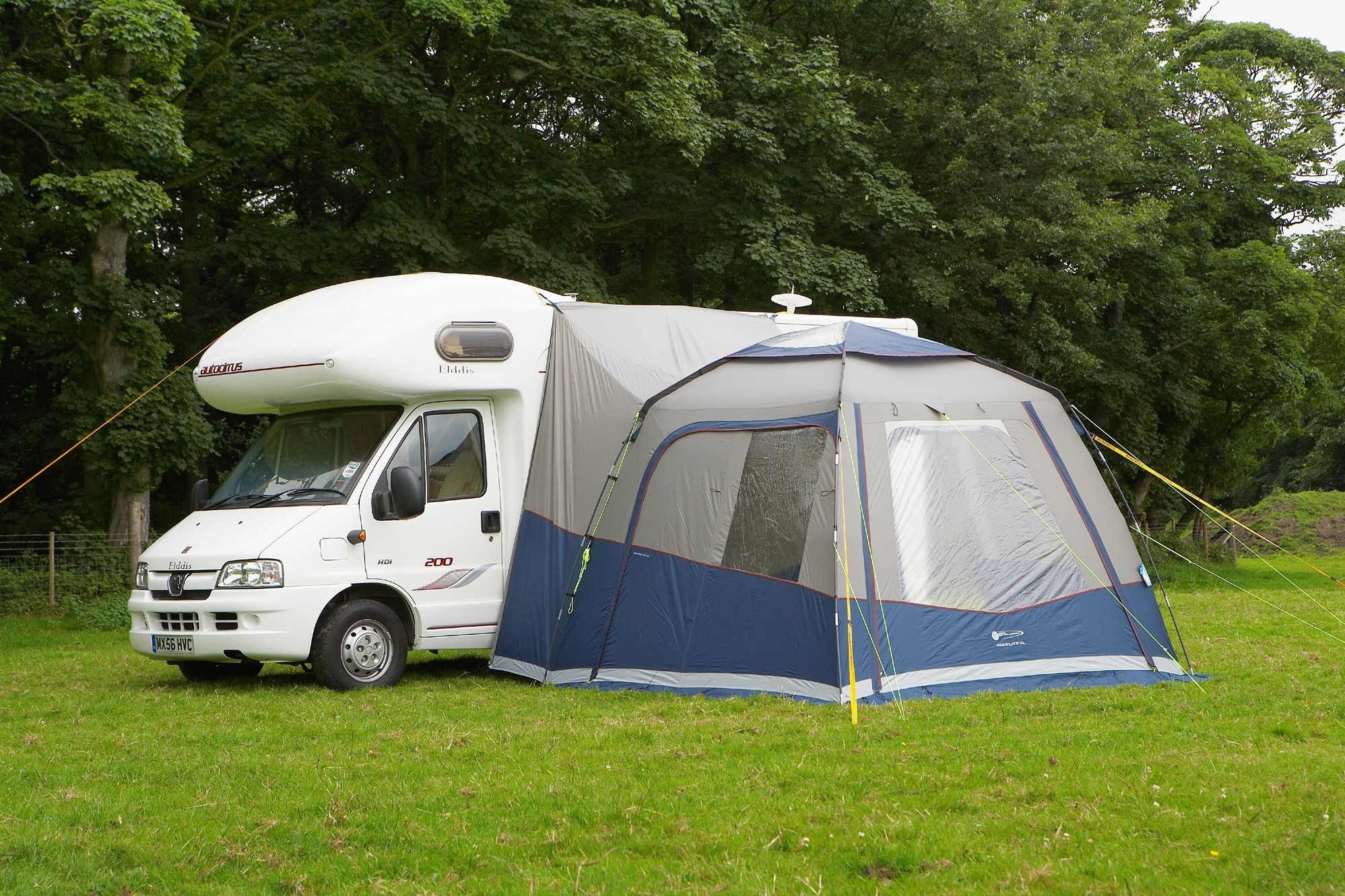 Pyramid PDQ 350 Quick Erect Caravan Porch Awning  Annexe